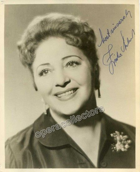 Milanov, Zinka - Signed Photo shown as herself
