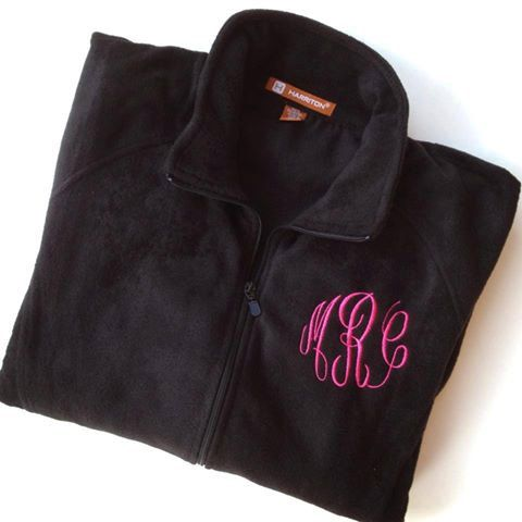Women's Fleece Jacket Personalized with Monogram