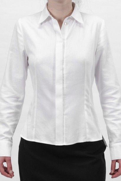 SH 002 W | Košile s dlouhými rukávy z bio bavlněného popelínu - Biomee