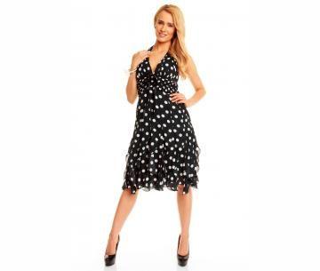 Zwart polkadot jurkje