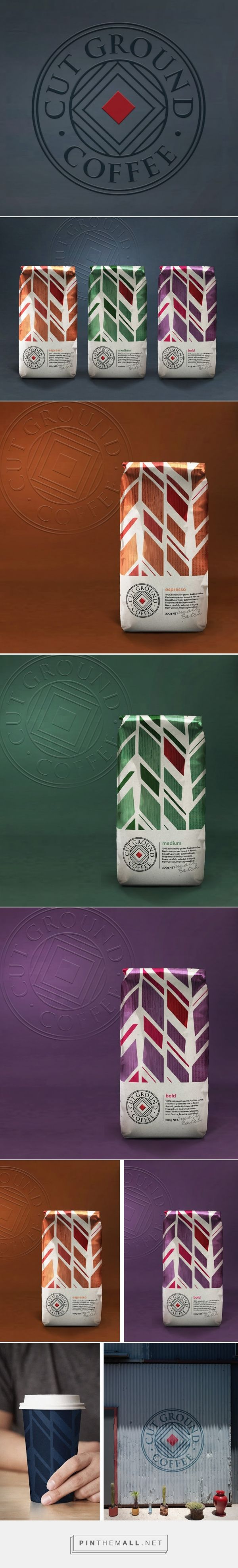 Cut Ground Coffee packaging design by Our Revolution (Australia) - http://www.packagingoftheworld.com/2016/06/cut-ground-coffee.html