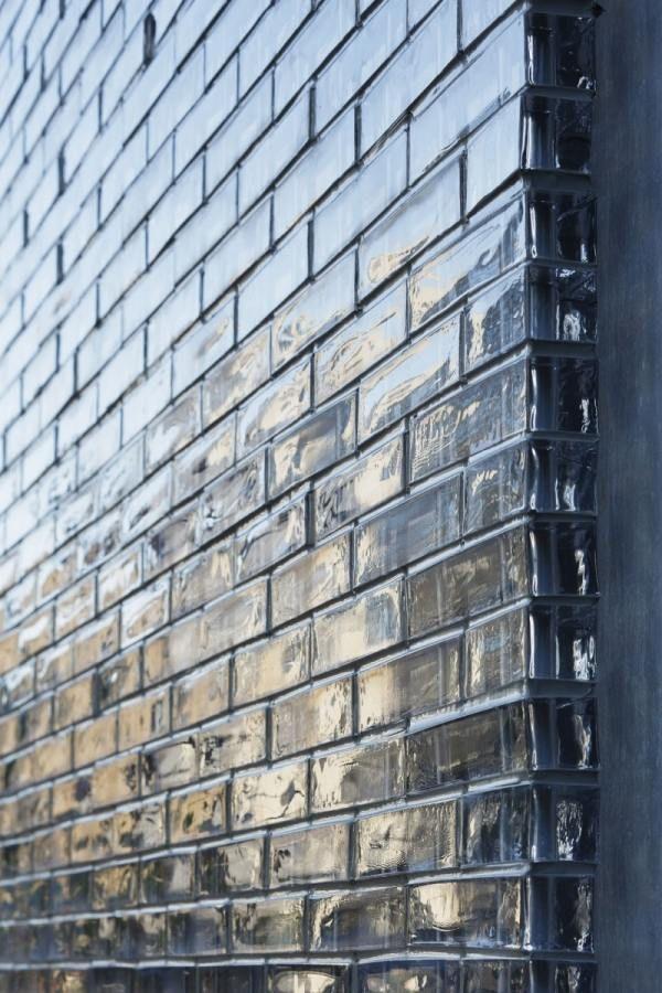 Glas-Fassade Ziegel Mauer-modernes Wohnhaus