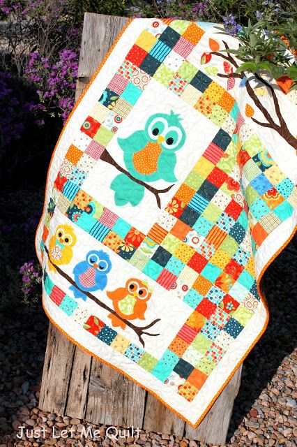 Just Let Me Quilt: The Owls On The Baby Quilt