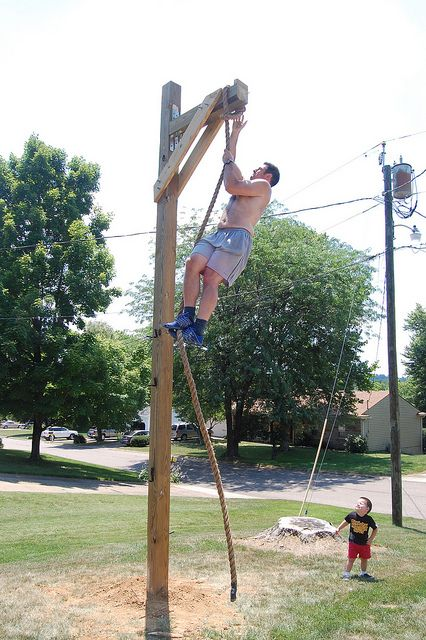 Rope climbing station home pinterest lost weight