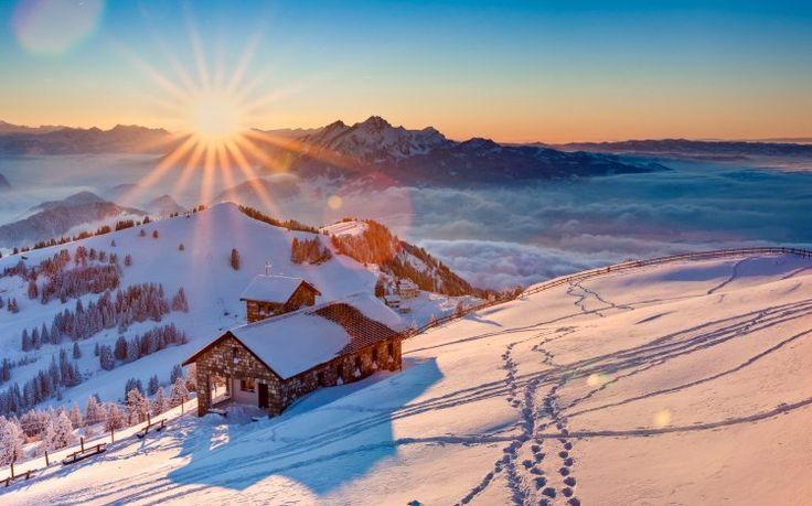 İsviçre+Karlı+Manzara