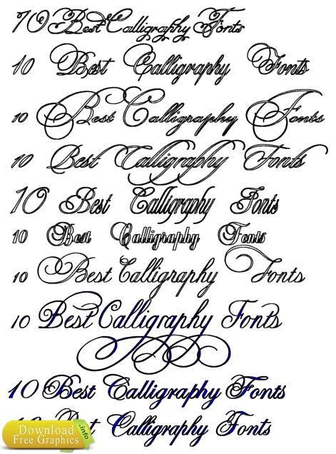 10 Best Calligraphy Fonts Crafty Typography Pinterest