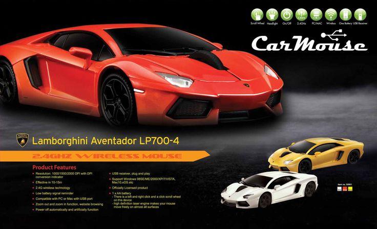 Lamborghini Aventador mysz usb, myszki usb, carmouse automouse