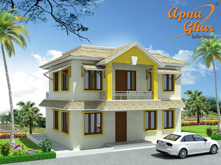 4 bedrooms duplex 2 floor house design in 80m2 10m x 8m for Modern house 80m2