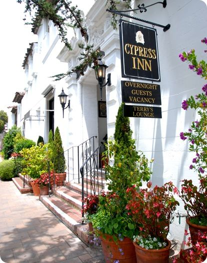 Cypress Inn owned in part by actress Doris Day in downtown Carmel (and dog friendly)