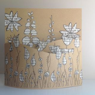 I'm posting my last take on the Paperartsy flowers-challenge . The prompt video of the challenge showed Jofy flowers combined with book pape...