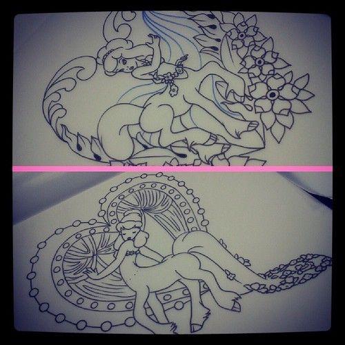 Fantasia Disney Centaur Tattoo - this is so perfect and cute!