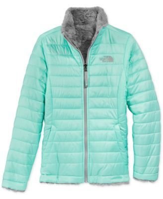 She'll have plenty of versatile keep-warm options with this awesome reversible jacket by The North Face-featuring one quilted water-repellent side and one ultra-soft Silken fleece side. | Polyester |