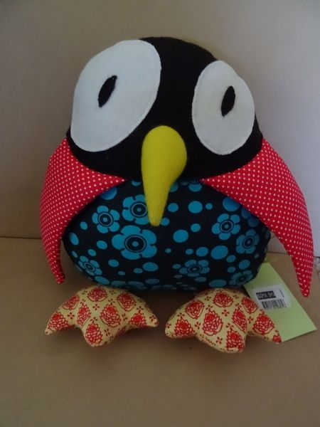 Peek-a-boo!  Red spotty owl needs a home. http://www.nestling.com.au/sale---baby-accessories-c73/toys-c44/kavishka-red-spotty-winged-owl-p1125/