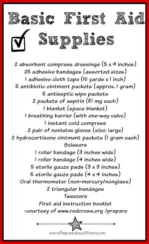 First Aid Kit: Beyond the Band-aid - Basic First Aid Kit Supplies List | PreparednessMama