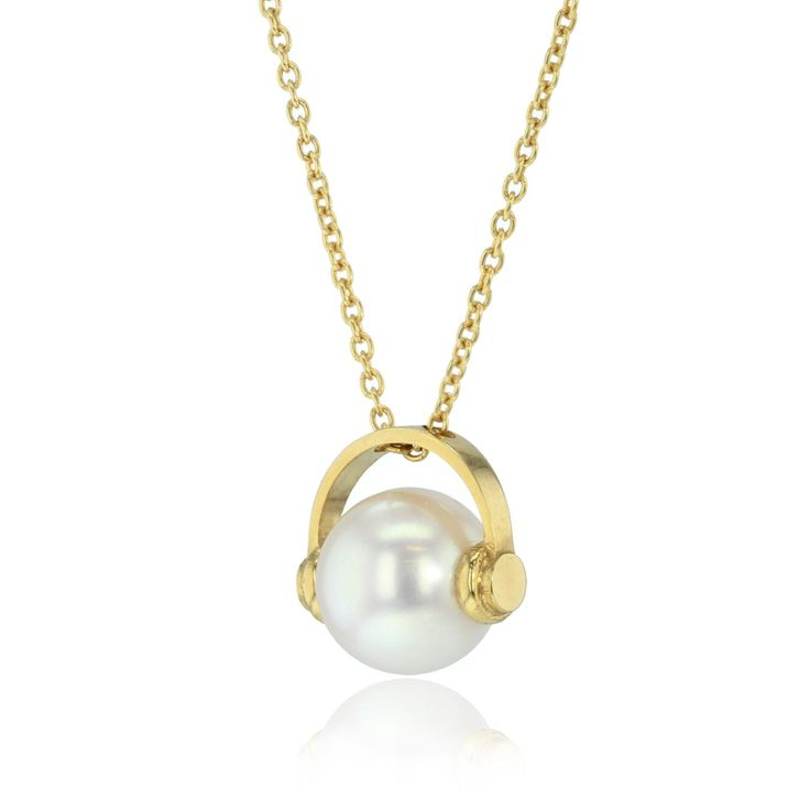 Why not make her laugh? This Frances Wadsworth-Jones pearl necklace is one of many characters she has created in her latest collection. Choose the one that best resembles mum, whether it be with headphones on, a crown or nerd glasses, there is one for every mum. Perfect for a present in our gift inspiration on Mother's Day. http://www.thejewelleryeditor.com/gift-inspiration/mothers-day-ideas/products/ #jewelry