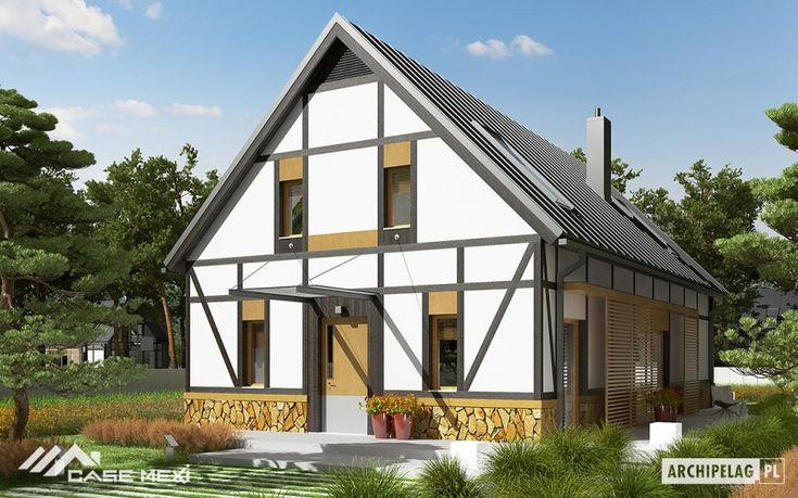 Modern house plans Our house design portfolio includes projects of one story houses, houses with attic, houses and modern villas in western style, family house projects, bungalows, modular homes, luxury villas, small house plans, simple and cheap houses. The projects presented in our gallery can be made anywhere in Europe.