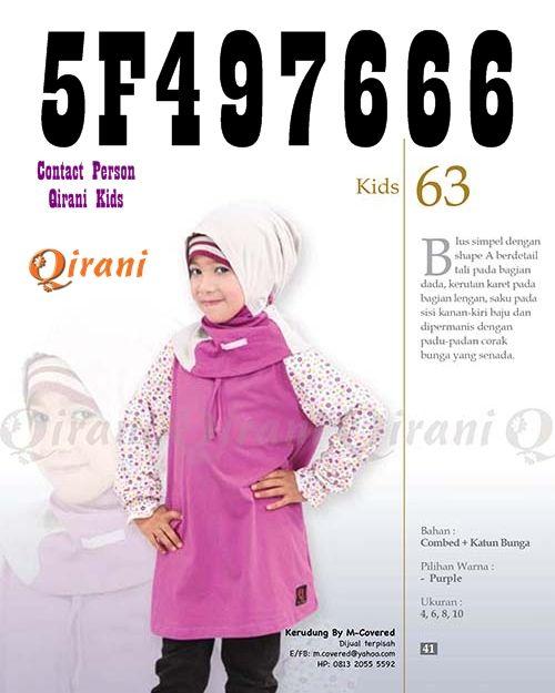 Qirani Kids 63 Tutik CS 1 Qirani  : SMS: 0857-3173-0007 Whatsapp: +6285731730007 BBM: 536816F7
