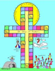 Easter calendar- counts all the days of Easter through Pentecost. Free to print!