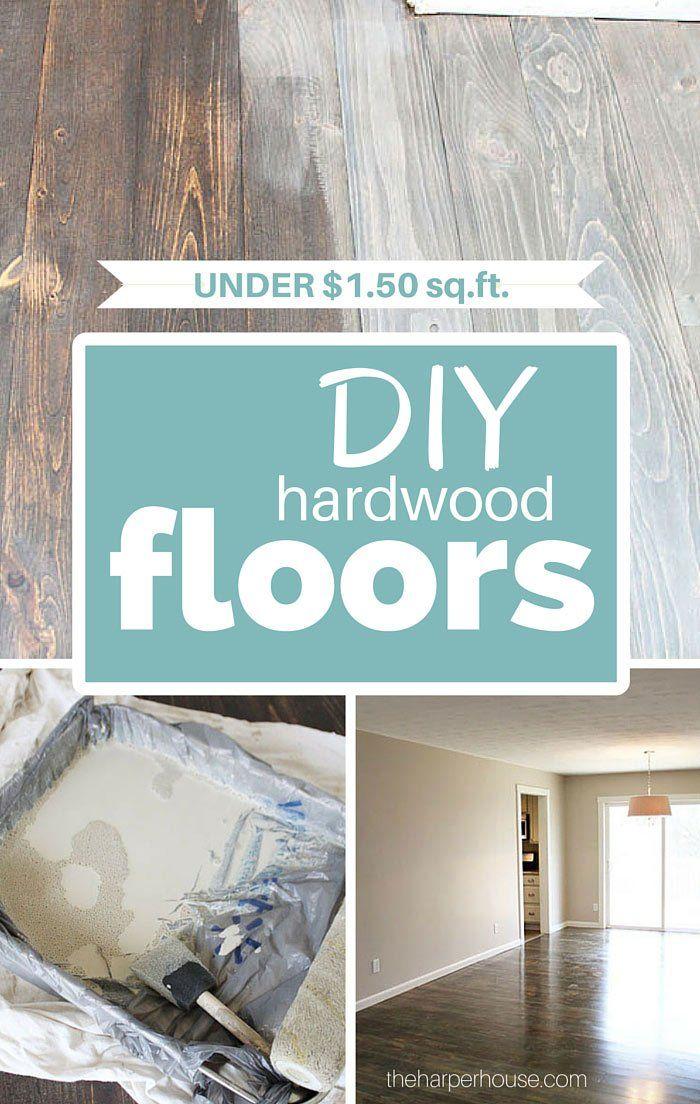 DIY hardwood floors for less than $1.50/sq ft | The Harper House
