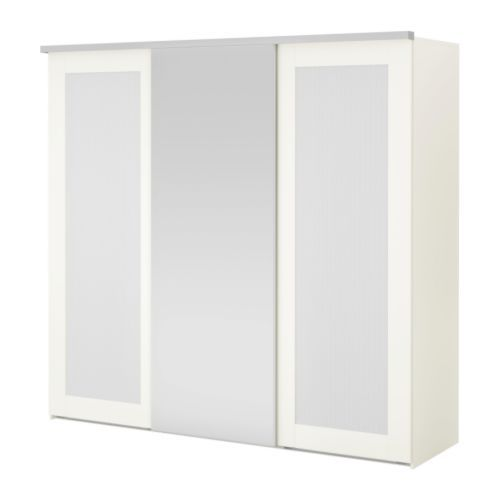 Folding Tv Dinner Table Ikea ~ ELGÅ Armoire 3portes coulissantes  blanc Aneboda Fenstad  IKEA More