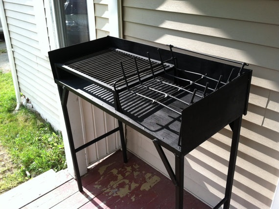 Gas Holzkohlegrill Hudsonville : Argentine style barbecue grill wood fired by shmetalworks on etsy