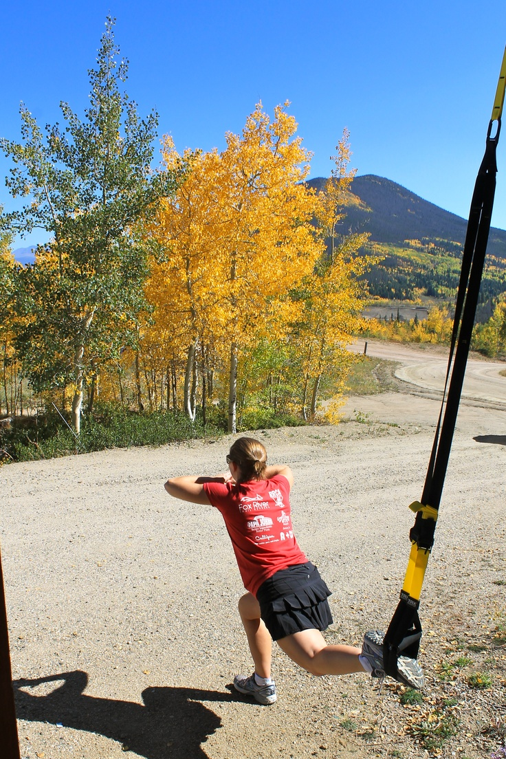 TRX in the mountains - fitness anywhere!