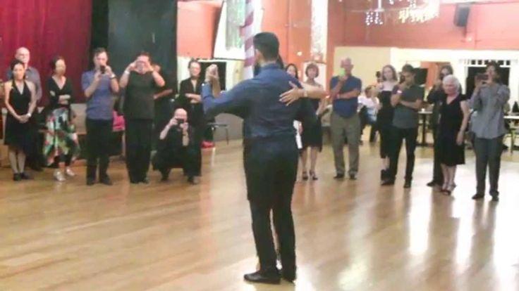 Argentine Tango Step Review Triple Sacada- With Barrida Sebastian Jimene...