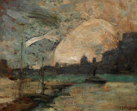 John Young Johnstone, Meuse à la Huy on ArtStack #john-young-johnstone #art