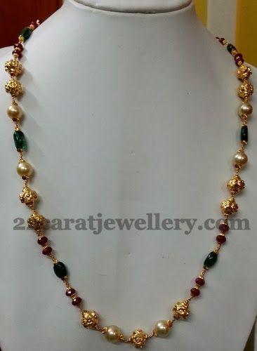 Jewellery Designs: Simple Beads String