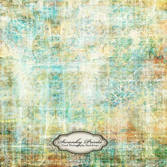 NEW PRICE 3.5 x 3.5 Vinyl Backdrop Colorful Grunge For NEWBORN Pictures or Headshots. $30.99, via Etsy. SwankyPrints
