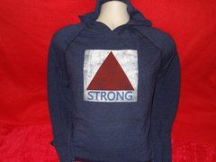 Tri-blend hooded Boston Strong citgo sign long sleeve t-shirt