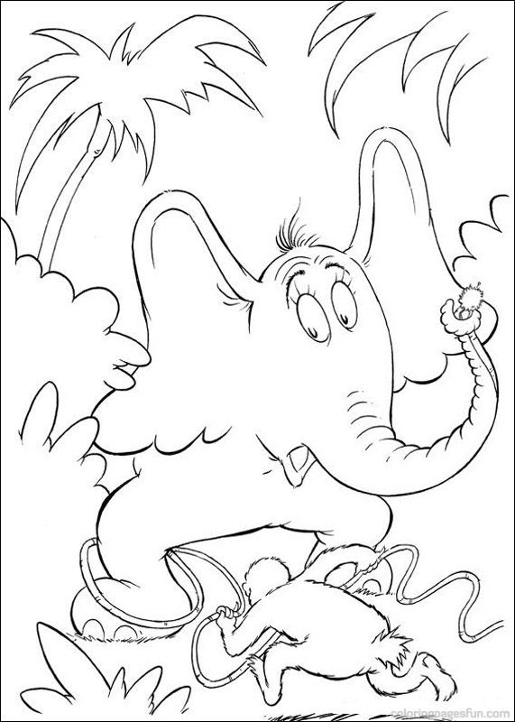 printable dr seuss coloring pages | Dr. Seuss Coloring Pages | Dr. Seuss Horton Coloring Pages ...