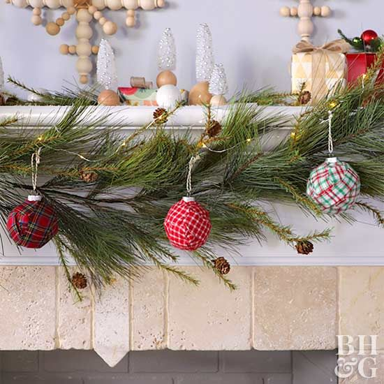 Decking the halls just got easier. These pretty tartan ornaments can be made in 15 minutes.