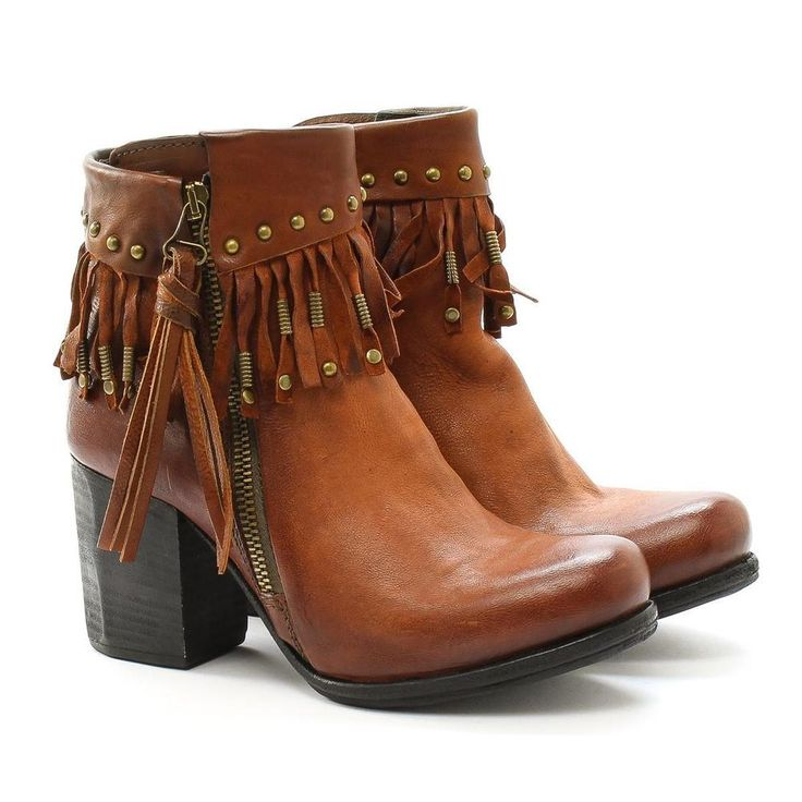 A.S.98 Ankle Boots heel Source 507225 Leather Oxide Brown as98 Airstep #AS98 #Tronchetto