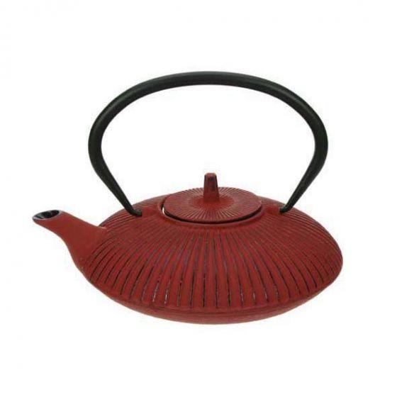 Théière en fonte rouge 0,8 L - Umbrella - Cosy & Trendy