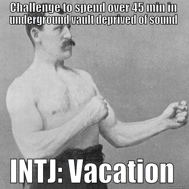How an Intj goes on vacation. Not really...a lonely beach will do too!