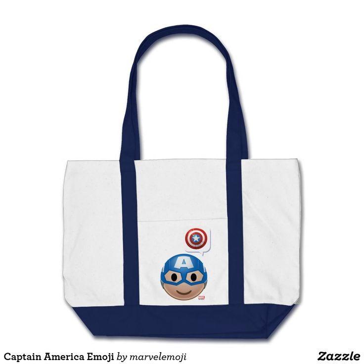 Captain America Emoji. Producto disponible en tienda Zazzle. Accesorios, moda. Product available in Zazzle store. Fashion Accessories. Regalos, Gifts. #bolso #bag