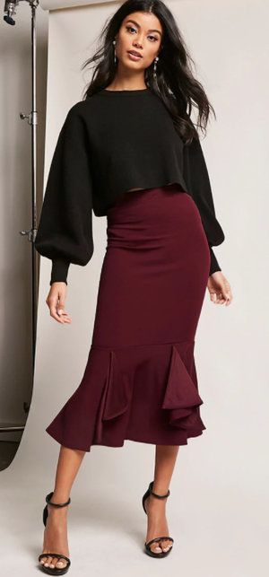 e3d46ee8a4 Midi skirts are ladylike, elegant and instant outfit-makers due to their  strong character!