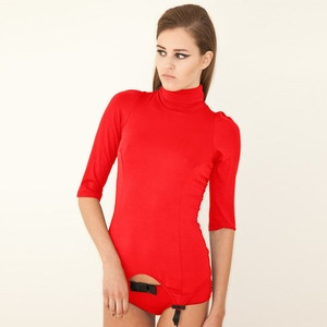 Kristel Polo Suspender Top Red, £63, now featured on Fab.