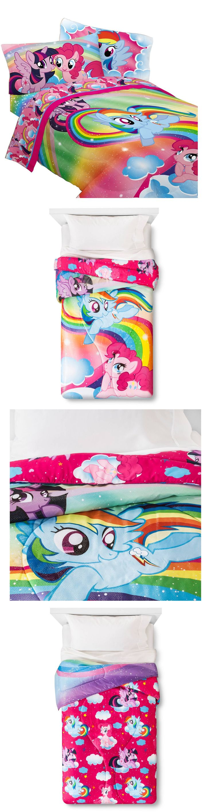 Kids Bedding: New Hasbro My Little Pony Living The Dream Microfiber Comforter - Twin -> BUY IT NOW ONLY: $31.99 on eBay!