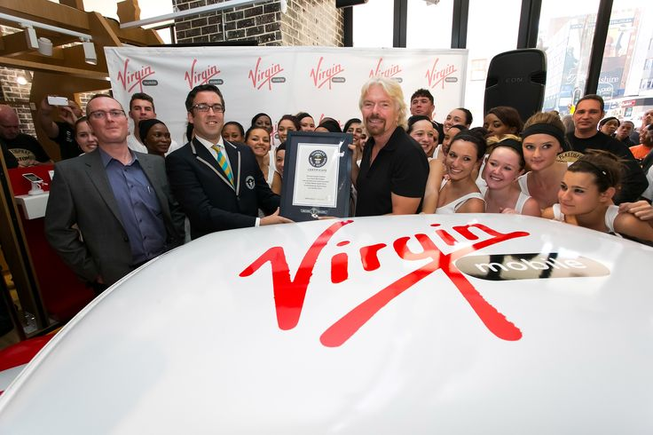 The GUINNESS WORLD RECORDS certificate awarded to Virgin Mobile SA