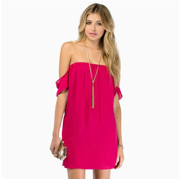 Dress stores sweet horizontal neck clothing for women HY-141516268