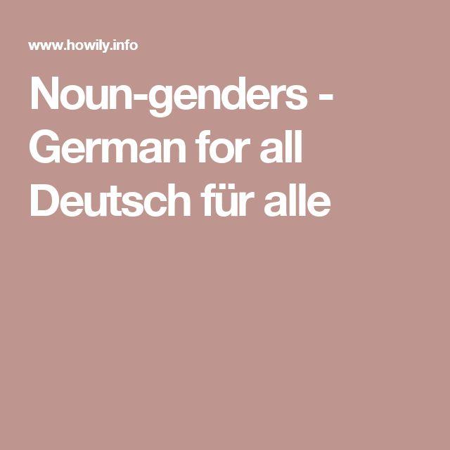 Noun-genders - German for all Deutsch für alle