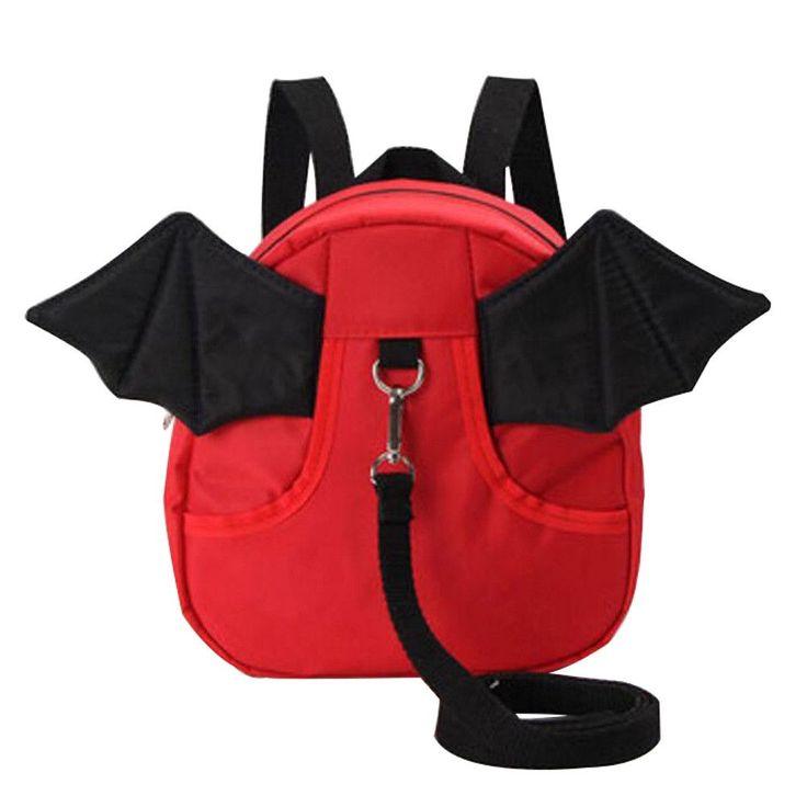 Anti-lost Kindergarten Backpack Cute Shoulder Bag Children School Bag-Red