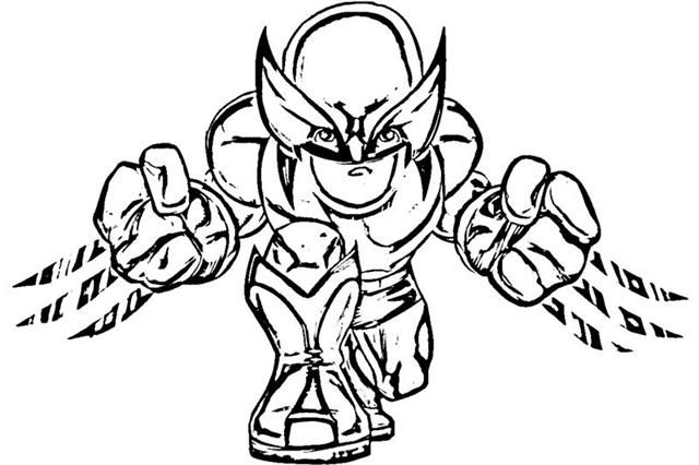 Wolverine- Super Hero Squad Show Coloring Pages | Coloring Pages ...