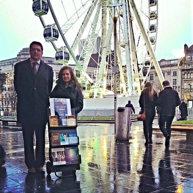 Public Witnessing in Italian in Manchester, UK More at JW.org  - Free Bible based publications to download in 600 languages! -- Photo shared by @rouge985