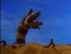 Beetlejuice desert safari :)  http://www.imdb.com/title/tt0094721/
