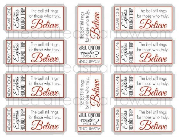 25+ unique Polar express tickets ideas on Pinterest Polar - free printable tickets template