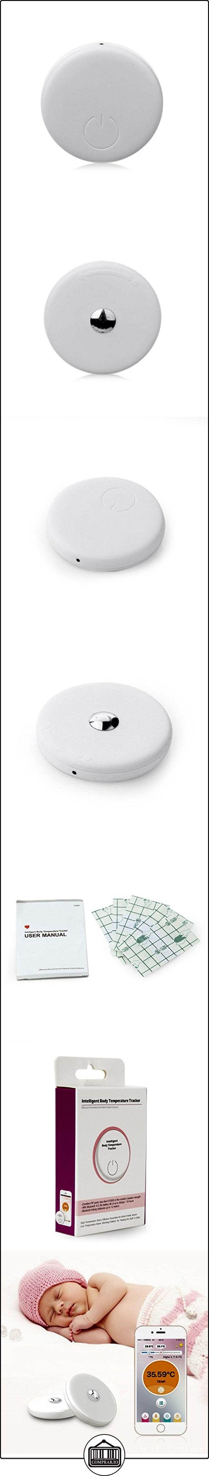 Rubility®Mini inteligente bebé Temperaturas Rastreador del sensor de temperatura del termómetro digital para Android / iOS Blanca  ✿ Vigilabebés - Seguridad ✿ ▬► Ver oferta: http://comprar.io/goto/B01HD6OS5Q