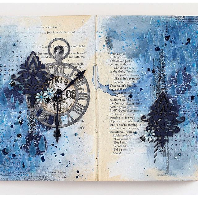 Altered book Art Journal. Monochromatic Altered Book by Jowilna Nolte…